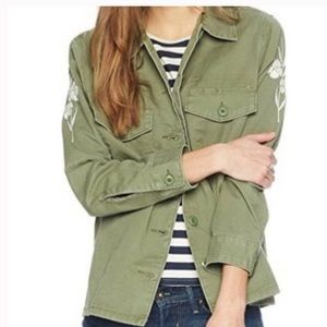 Levi's | Green Military Embroidered Button Down 3X